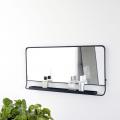 Mirror with Shelf, Chic, Black