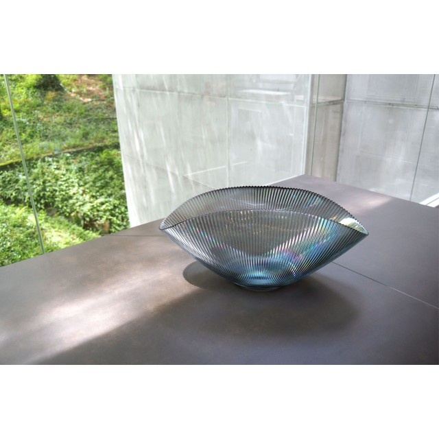 Bowl Oval Luce Glass with Luster