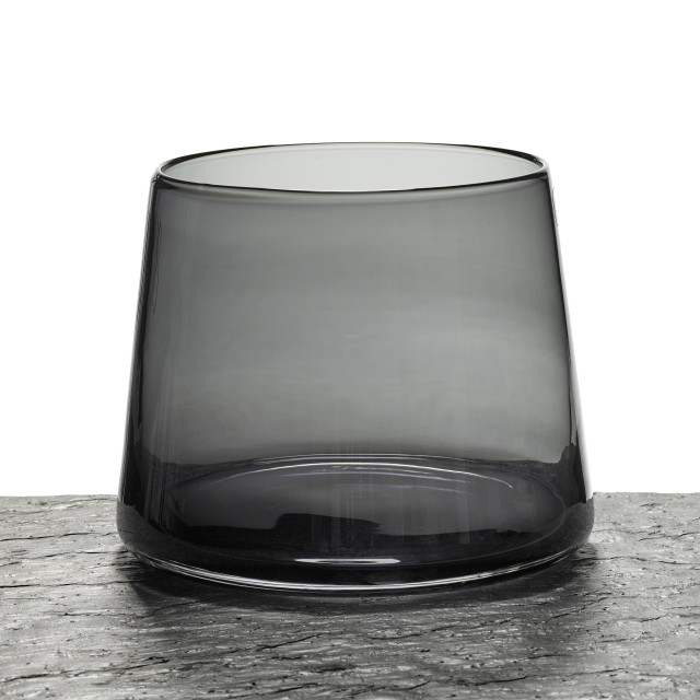BLACK TAPERED VASE AF411/BLACK