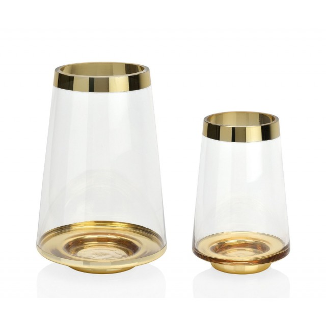 GOLDEN GLASS VASE CR69077