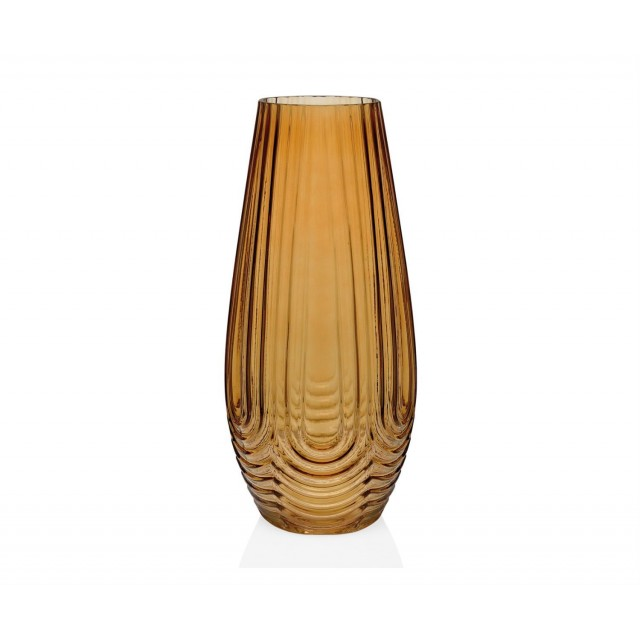IONIC AMBER GLASS VASE CR68274