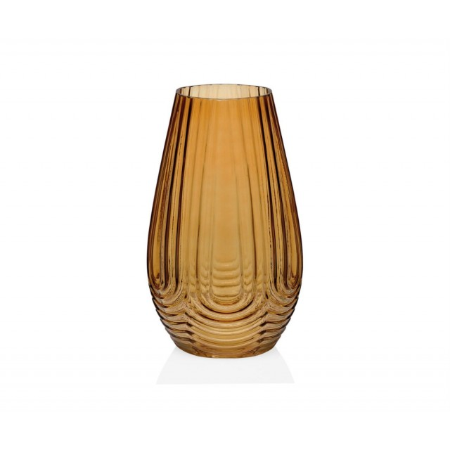 IONIC AMBER GLASS VASE CR68273