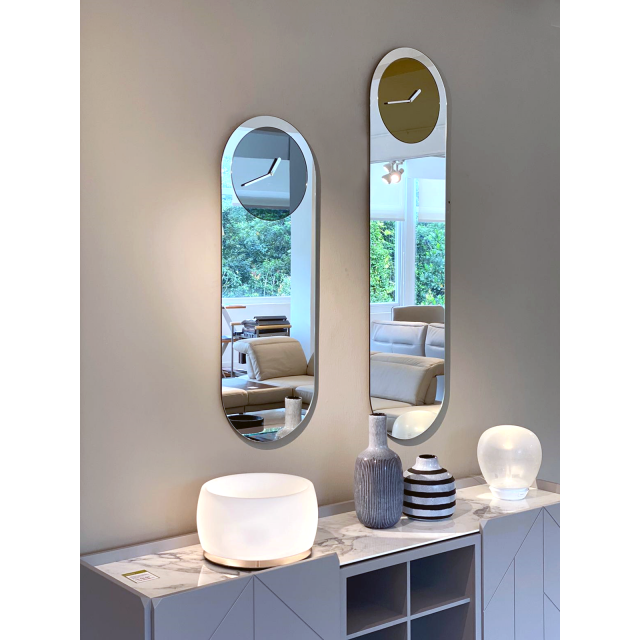 Timeless Mirror with Clock
