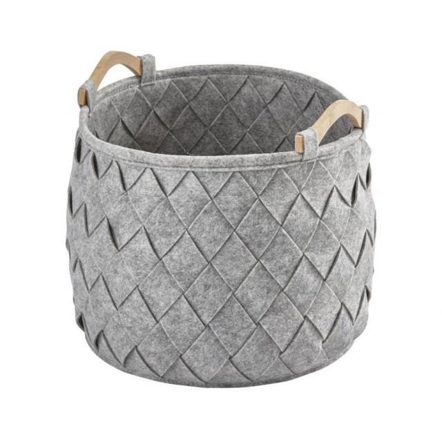 AMY STORAGE BASKET MEDIUM GREY