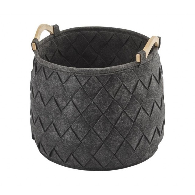 AMY STORAGE BASKET DARK GREY (M)