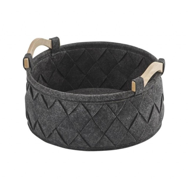 AMY STORAGE BASKET DARK GREY (S)