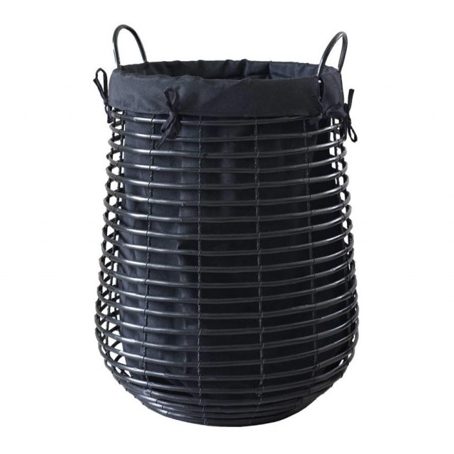 GISLA LAUNDRY BASKET BLACK (M)