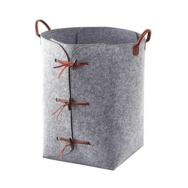RESA LAUNDRY BASKET GREY